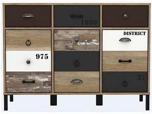 Buffet Salon Conforama : rangement 3 portes 3 tiroirs oldy vente de buffet bahut vaisselier conforama ~ Teatrodelosmanantiales.com Idées de Décoration