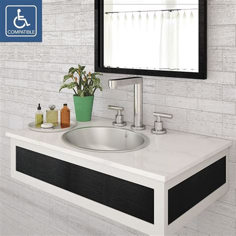decolav taji  simply stainless collection oval