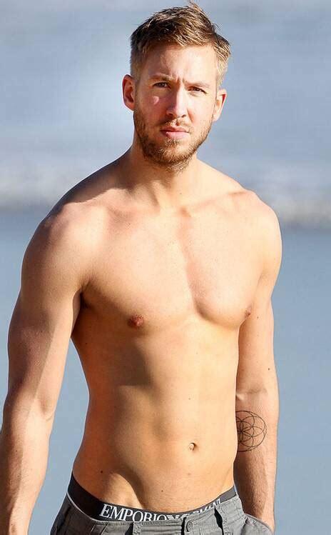 calvin harris sexy shirtless body   full display