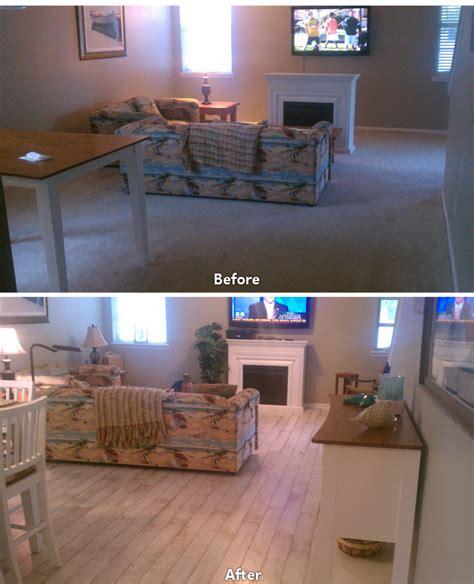 hardwood floor before after carpet to hardwood living room 1 ability