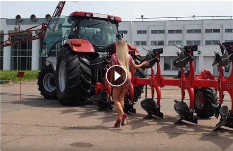 pretty girl tractor driver case ih
