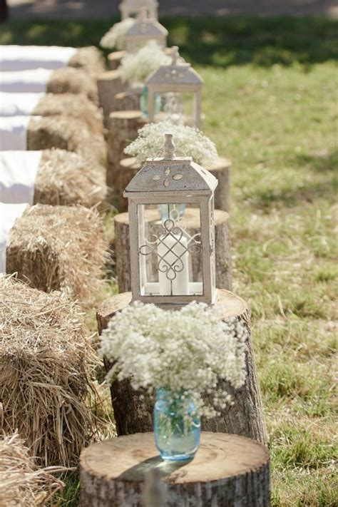 wooden stumps   wedding wedding flair