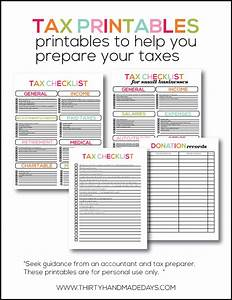 printable tax information for your budget binder With documents taxes checklist