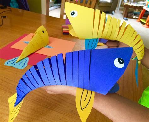 moving fish paper craft fish paper craft