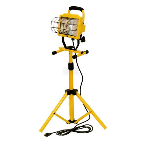 halogen l with stand cci single halogen tripod stand worklight 500w gopher