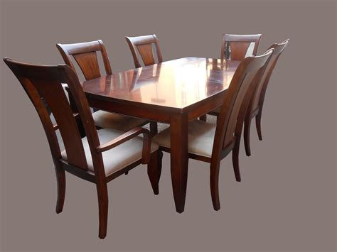 dining table and 6 chairs uhuru furniture collectibles mahogany dining table w 6