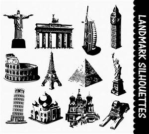 Famous Landmarks Clip Art Graphics Places Clipart Scrapbook