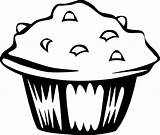 Clipart Cupcake Muffin Simple Clip Transparent Webstockreview Cup Recess sketch template