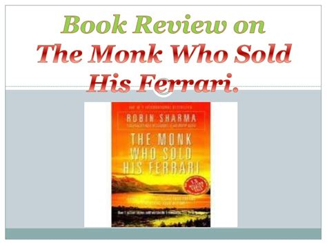 A magical meeting with the the editors/writer of the book the monk who sold his ferrari Super Car: The Monk Who Sold His Ferrari Novel Pdf ...