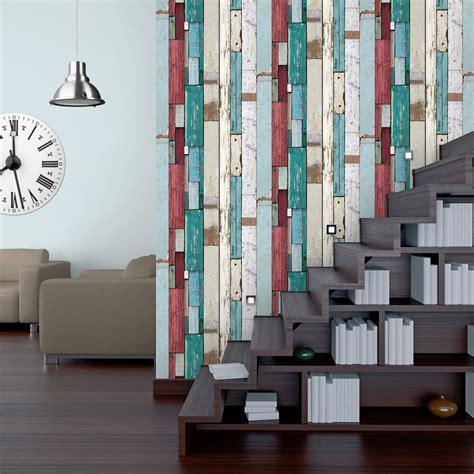 magasin chambre papier peint intissé planches multicouleur leroy merlin