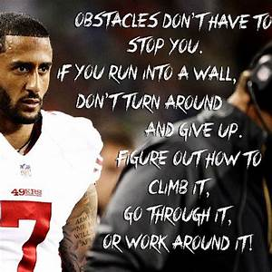 Love this quote... Colin Kaepernick Inspirational Quotes