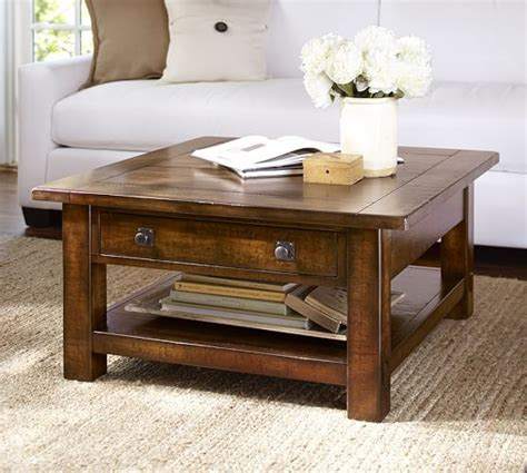 pottery barn coffee tables benchwright square coffee table pottery barn