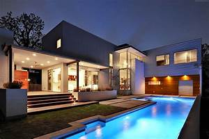 Wallpaper House, Mansion, pool, modern, interior, High ...