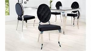 Chaise Baroque Noir : chaise m daillon baroque et design en velours noir zita gdegdesign ~ Teatrodelosmanantiales.com Idées de Décoration