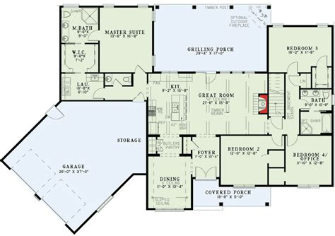 split floor plans split floor plans with angled garage 60615nd