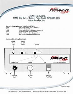 Terrawave 802 11n Mimo Site Survey Battery Pack User