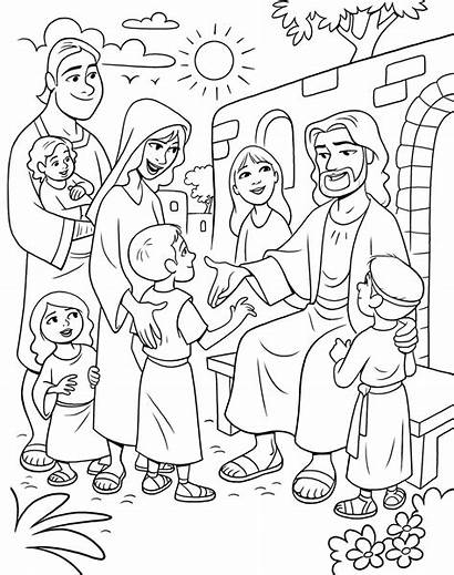 Jesus Coloring Children Pages Christ Meeting Lds