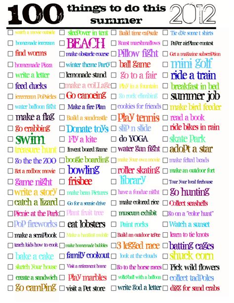 todo checklist summer things to do archives jaderbomb