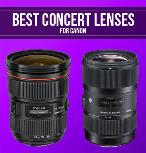 Best Canon Lenses For Concert Photography  Smashing Camera