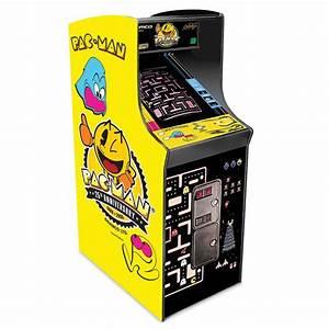 The Authentic Pac Man Arcade Game Hammacher Schlemmer