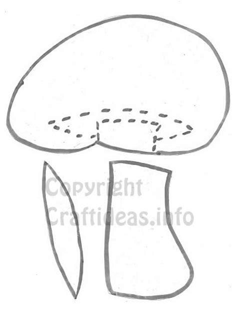 fall craft template   mushroom