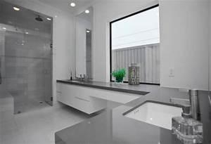 Badezimmer Grauer Boden Weiße Wand : 50 graue designs ~ Bigdaddyawards.com Haus und Dekorationen