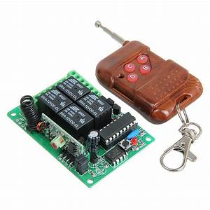 4 Channel Wireless Relay Remote Control Switch Smart Rf Receiver  U0026 Transmitter