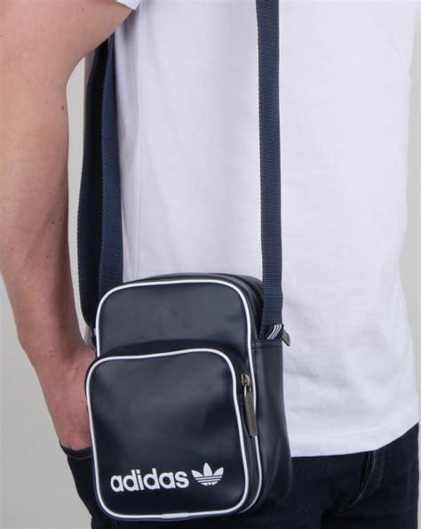 adidas originals vintage mini bag navy shoulder bag mens