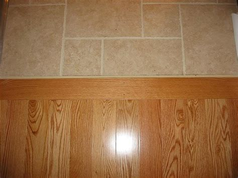 Wood To Tile Metal Transition Strips by Tile To Wood Floor Transition Ideas Homesfeed