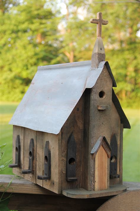 Pallet Wood Birdhouse Bird Housesfeedersbaths