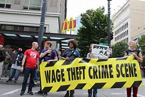 "Fast Food workers ""speak out"" against wage theft (3/18)"
