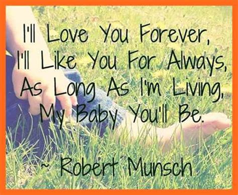 Love You Forever Book Quotes Extraordinary Love U Forever Quotes With Images  I Will Love You Forever