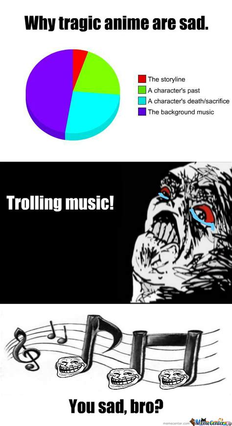 Sad Anime Memes - why sad anime is sad trolling music by tenzanification on