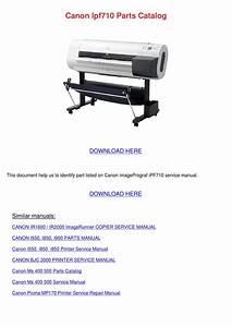 Canon Ipf710 Parts Catalog By Vashti Canel