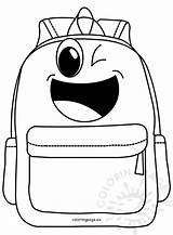 Backpack Cartoon Coloring Happy Reddit Email Coloringpage Eu sketch template
