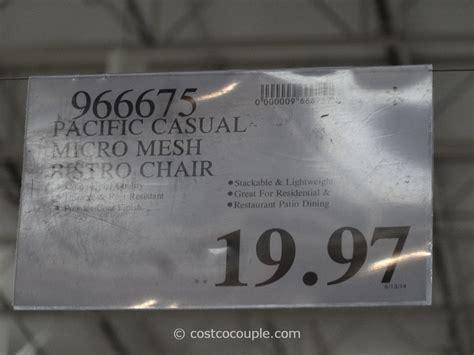 Pacific Casual Micro Mesh Bistro Chair