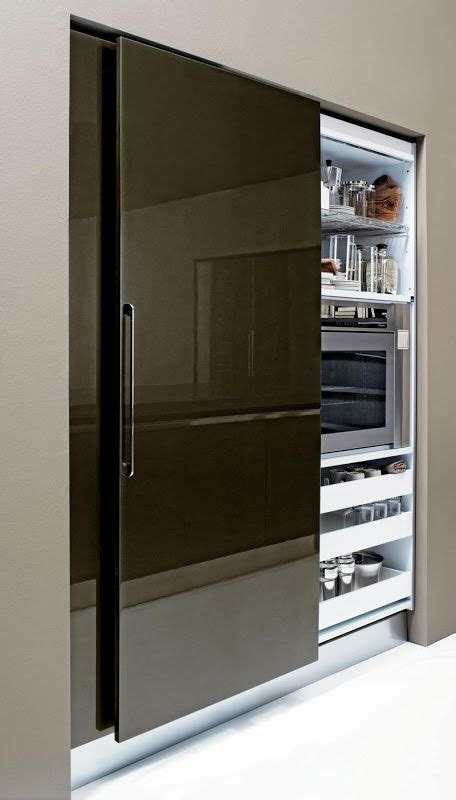 Kitchen Cupboards With Sliding Doors by Sliding Pantry Door Small Spaces Sliding