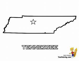 Mighty Map Coloring Pages Tennessee - Wyoming Free Maps
