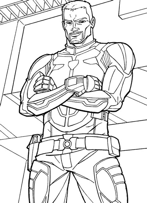 Coloring Pictures by The Rise Of Cobra Coloring Pages