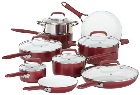 cookware nonstick pans ray rachael ceramic glass piece wearever living safe porcelain amazon pure coating ptfe dishwasher pc lids