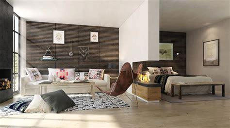 amenagement interieur meuble de cuisine pièce de vie moderne dans un petit appartement de ville design feria