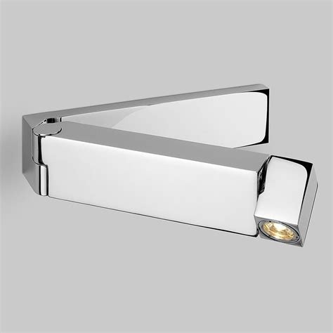 astro tosca polished chrome led wall light at uk