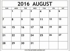 August 2016 Calendar #WordCalendar #CalendarTemplates