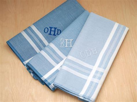 image gallery monogrammed handkerchiefs set of 3 mixed blues monogrammed mens handkerchiefs font r