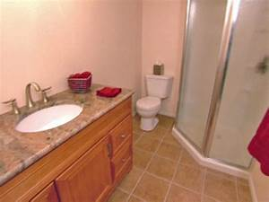 how to install tile on a bathroom floor hgtv With easy to install flooring for bathroom