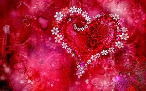 Romantic Love Heart Designs HD Cover Wallpaper