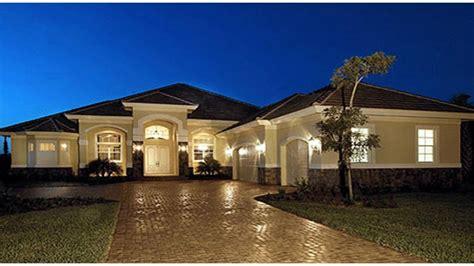 large luxury home plans luxury one story mediterranean house plans mediterranean