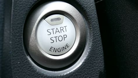 Engine Start Stop Button From A Modern Car Interior Stock
