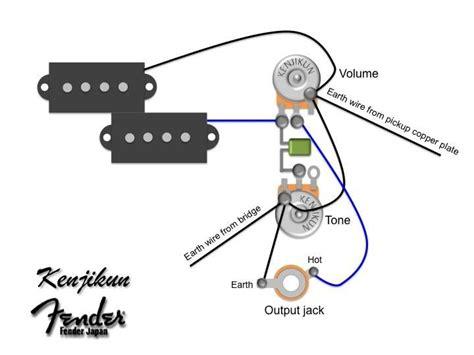p bass wiring diagram google search circuitos
