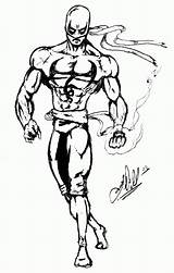 Fist Iron Coloring Pages Sketch Popular Marvel Library Clipart Fanart Template sketch template